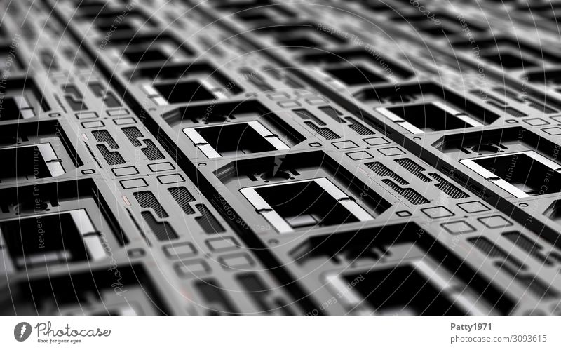 Tech Perspective 02 - 3D Render Computer Hardware Technik & Technologie High-Tech Industrie dunkel eckig kalt Sauberkeit grau schwarz Design gleich Ordnung