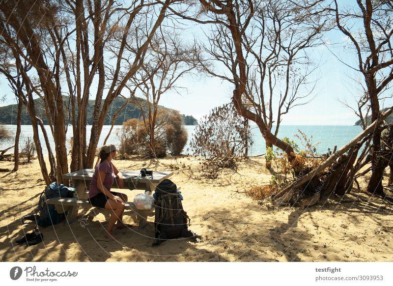 pause Ferien & Urlaub & Reisen Tourismus Ausflug Abenteuer Ferne Freiheit Expedition Sommer Sommerurlaub Sonne Sonnenbad Strand Meer feminin Körper 1 Mensch