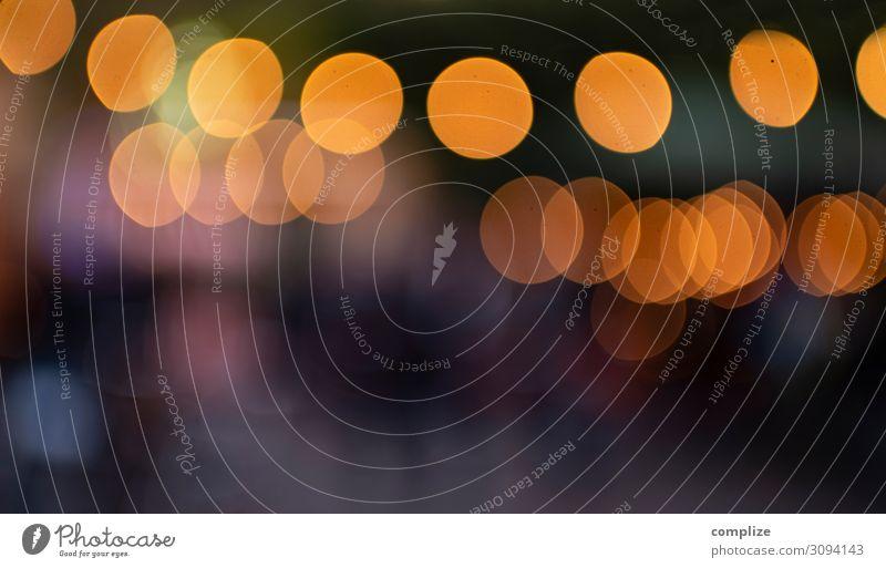 Bokeh in orange & grün Weihnachten & Advent Hintergrundbild Glück Feste & Feiern Party Musik Punkt Veranstaltung Club Disco Nachtleben Lichtpunkt Lichterkette