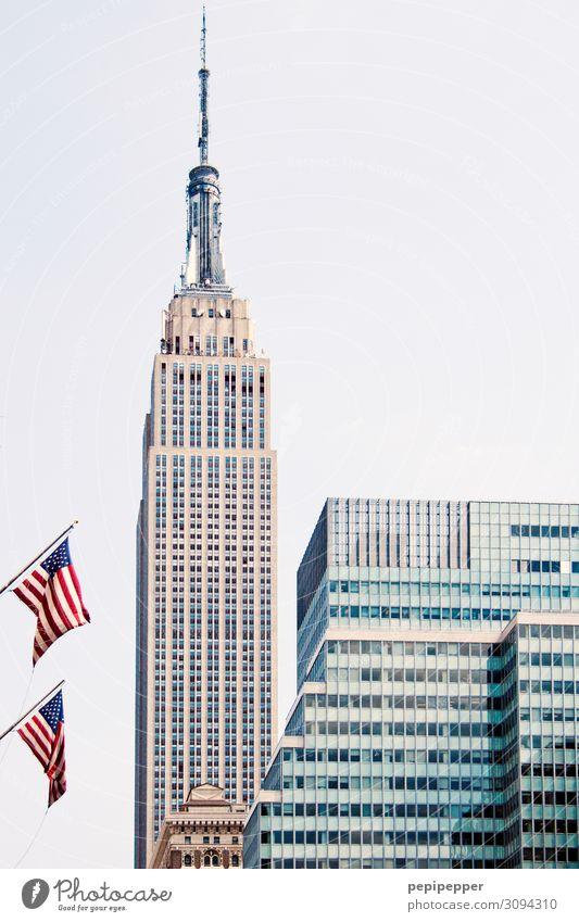 Empire State Building Ferien & Urlaub & Reisen Tourismus Ausflug Ferne Freiheit Sightseeing Städtereise Arbeitsplatz Büro Himmel New York City Stadtzentrum