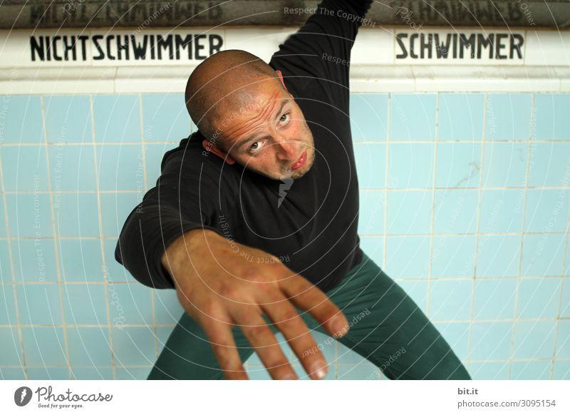 wertvoll I schwimmen lernen Schwimmbad Freizeit & Hobby Ferien & Urlaub & Reisen Sport Fitness Sport-Training Schwimmen & Baden Mensch maskulin Junger Mann