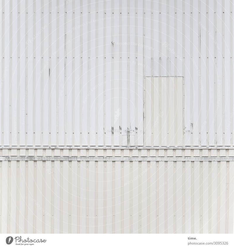 Séparée alt Inspiration hart Oberfläche zeichen dissident wand kaputt beschädigt fleck tür container metall blech linien baustelle