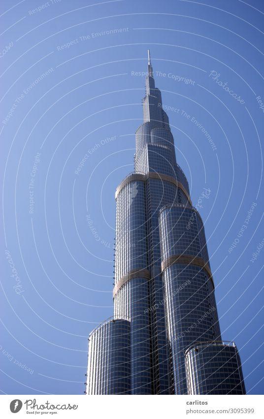 Burj Khalifa ohne Sonne Hochhaus Hauptstadt Großstadt Dubai Vereinigte Arabische Emirate