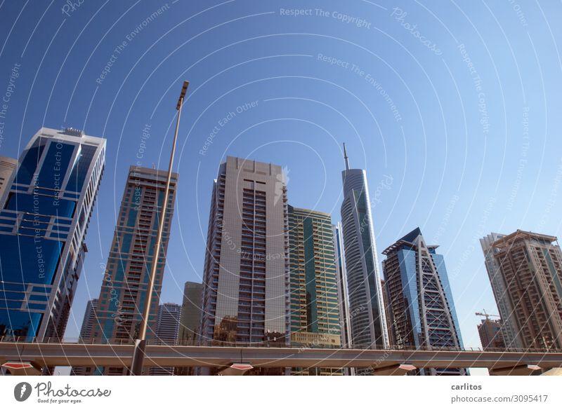Du buy ? Nee, nix kaufen.... Dubai Vereinigte Arabische Emirate Weltausstellung 2020 Großstadt Hauptstadt Hochhaus Beton U-Bahn Architektur Tourismus Geld