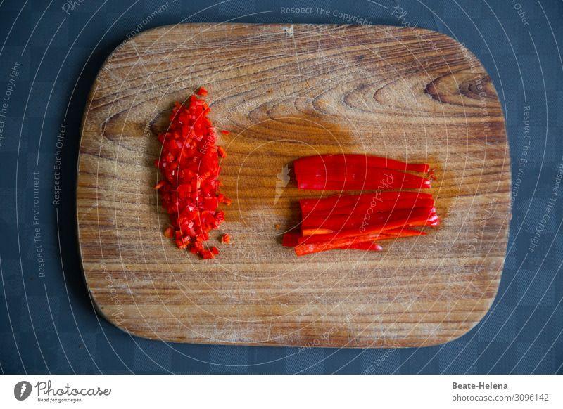 Vorsicht, scharf!   Peperoni Lebensmittel Gemüse Ernährung Vegetarische Ernährung Italienische Küche Schneidebrett kaufen Gesundheit Gesunde Ernährung Wellness