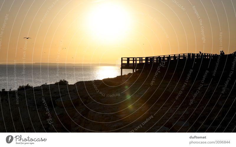 Sunset auf portugiesisch Ferien & Urlaub & Reisen Tourismus Ausflug Abenteuer Ferne Freiheit Natur Landschaft Urelemente Sonne Sonnenaufgang Sonnenuntergang