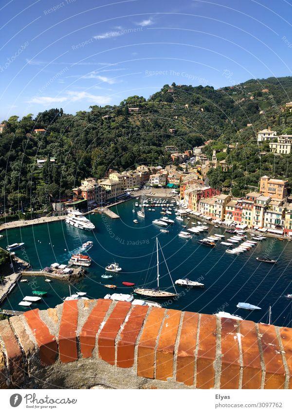 Portofino, Italy, port, harbor Ferien & Urlaub & Reisen Tourismus Ausflug Städtereise Sommer Sommerurlaub Sonne Meer Natur Landschaft Wasser Himmel