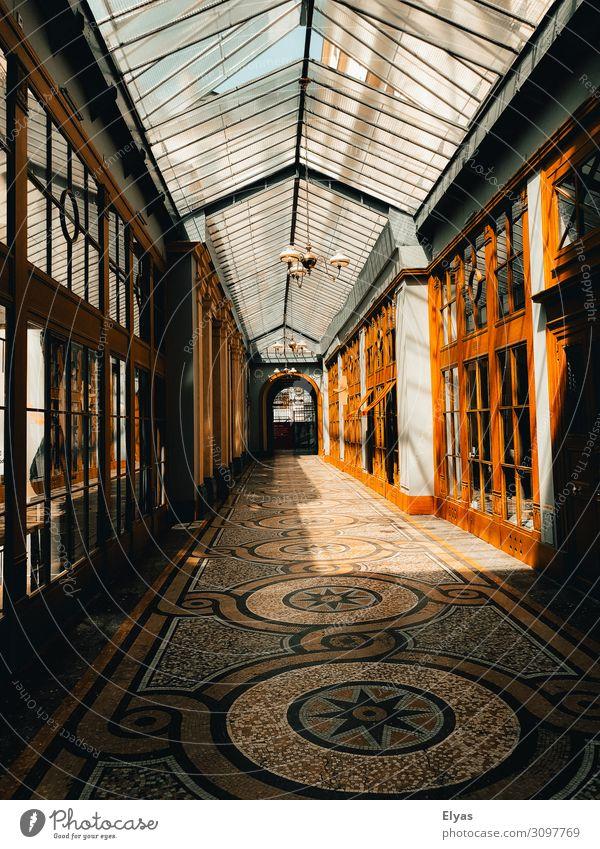 Paris Galerie Ausflug Städtereise Sommer Sonne Innenarchitektur Dekoration & Verzierung Kunst Architektur Stadt Stadtzentrum Menschenleer Haus Gebäude Fenster