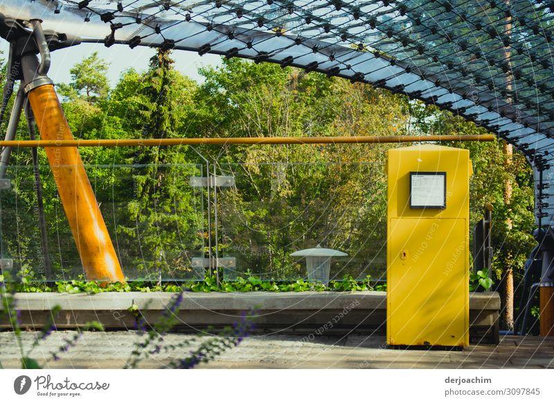 Fingerspitzengefühl / in den Briefkasten einwerfen Freude Zufriedenheit Sommer Umwelt Schönes Wetter Sträucher Park Bayern Deutschland Kleinstadt Architektur
