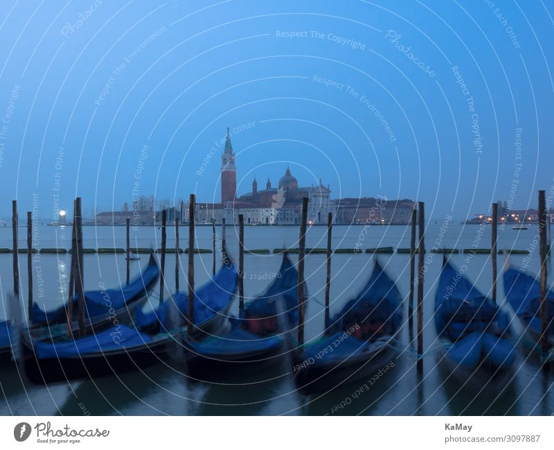 Venedig im Schlaf Tourismus Städtereise Insel Wasser Fluss Canal Grande Italien Europa Stadt Skyline Kirche Architektur Sehenswürdigkeit San Giorgio Maggiore