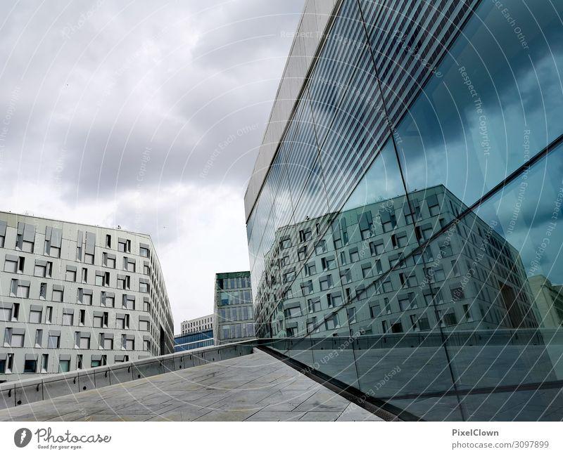 Oslo Freude Ferien & Urlaub & Reisen Tourismus Ausflug Ferne Städtereise Kunst Architektur Theaterschauspiel Stadtzentrum Bauwerk Gebäude Sehenswürdigkeit