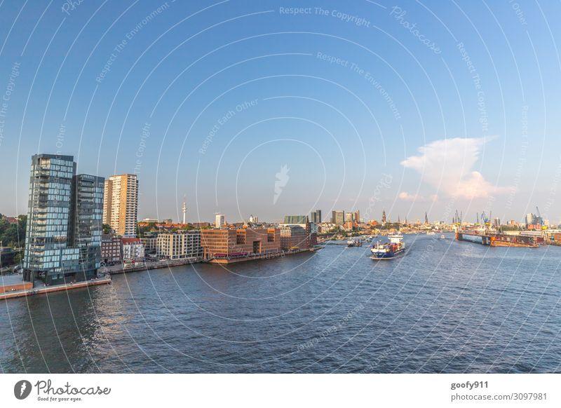 Hamburg Ferien & Urlaub & Reisen Tourismus Ausflug Abenteuer Sightseeing Städtereise Kreuzfahrt Wasser Himmel Wolken Sonnenaufgang Sonnenuntergang Hafenstadt