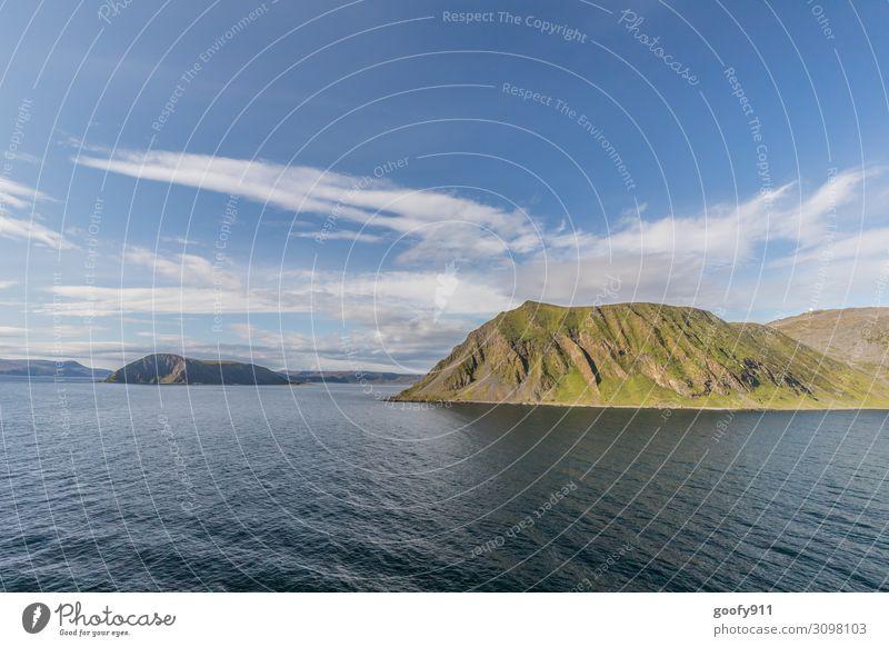 Norwegens Küste Richtung Nordkap Ferien & Urlaub & Reisen Tourismus Ausflug Abenteuer Ferne Freiheit Kreuzfahrt Natur Landschaft Wasser Himmel Wolken Horizont
