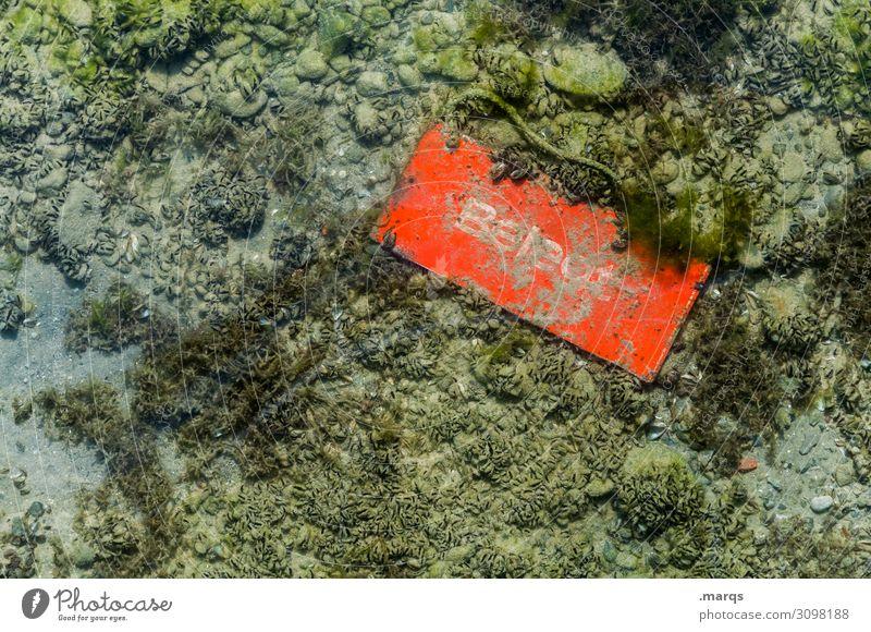 Belegt alt See orange Perspektive Vergänglichkeit Hinweisschild Wandel & Veränderung Warnschild besetzen belegt Seegrund
