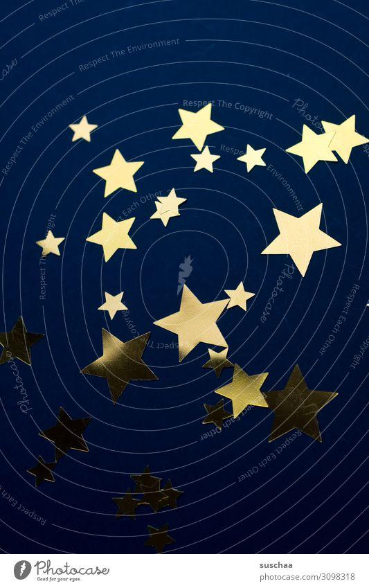 sterne Stern (Symbol) Symbole & Metaphern Sternenhimmel dunkel Nacht Nachthimmel Weihnachten & Advent Postkarte leuchten viele Vor dunklem Hintergrund