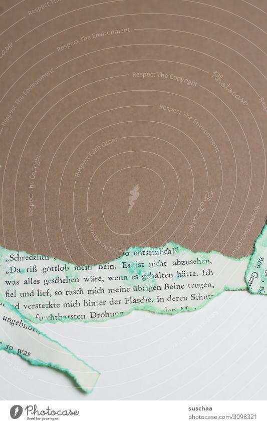 papier Papier Zeitungspapier Karton gerissen einfach sehr wenige Hintergrundbild Karte Postkarte Textfreiraum Strukturen & Formen leer