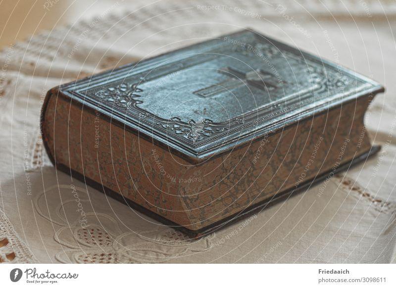 Bibel Bildung Studium sprechen Buch Kreuz festhalten hören lesen Liebe lernen tragen Umarmen Wachstum warten historisch Gefühle Kraft Vertrauen Schutz