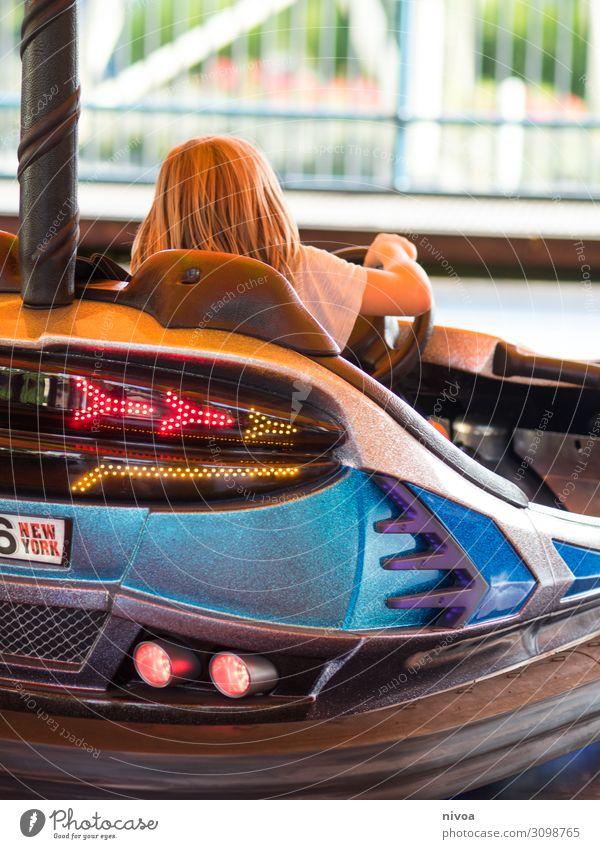 Autoscooter Ausflug Abenteuer Freiheit Nachtleben Oktoberfest Auto-Skooter Kind Mädchen Junge Kindheit 1 Mensch 8-13 Jahre Veranstaltung PKW T-Shirt Lenkrad