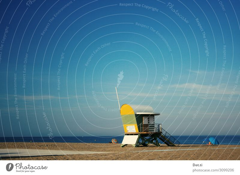 surveillance Ferien & Urlaub & Reisen Sommer Sonne Meer Strand Küste Horizont Aussicht Schönes Wetter Sicherheit Sommerurlaub Hütte Sonnenbad Überwachung