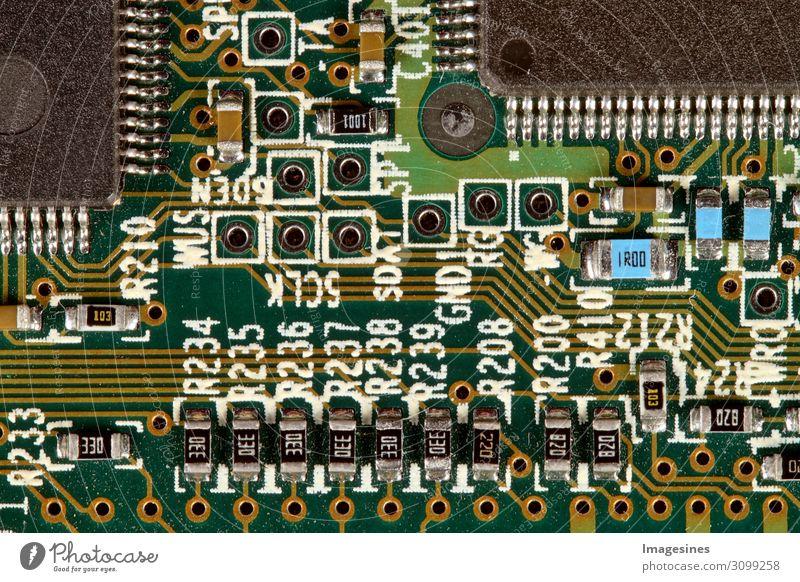 Nahaufnahme einer PC Festplatte Computer Hardware Technik & Technologie Informationstechnologie Internet Prozessor Motherboard Handel Kommunizieren nachhaltig