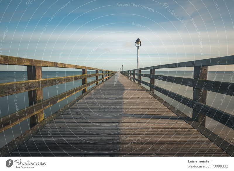 Seebrücke Lubmin harmonisch Schwimmen & Baden Sommerurlaub Strand Meer Schönes Wetter Küste Ostsee Deutschland Europa Brücke Architektur Sehenswürdigkeit
