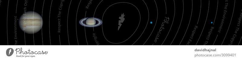 Collage: Die vier Gasplaneten im Sommer 2019 Teleskop Technik & Technologie Wissenschaften Fortschritt Zukunft High-Tech Raumfahrt Astronomie Umwelt Natur