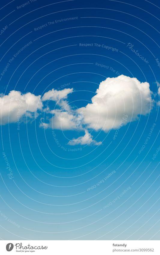 Few small clouds harmonisch Umwelt Natur Landschaft Luft Himmel nur Himmel Wolken Sommer Wetter Schönes Wetter natürlich Sauberkeit blau weiß Idylle