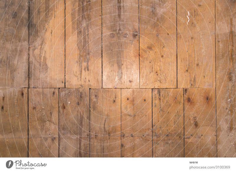 Old wooden floor with vertical boards Design Wärme retro Hintergrundbild Wood building copy space cozy floorboards homey house nobody old rustic unpolished used