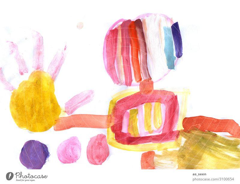 Abstrakt Lifestyle Stil Design Leben Freizeit & Hobby malen Kindererziehung Bildung Kindergarten Kunst Kunstwerk Gemälde Jugendkultur Papier