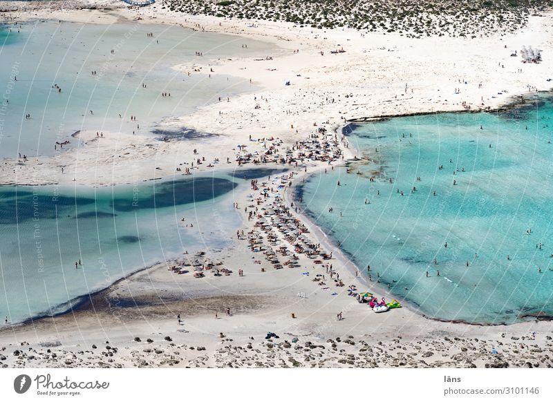 Balos Beach Schwimmen & Baden Ferien & Urlaub & Reisen Tourismus Ausflug Ferne Meer Insel Leben Menschenmenge Umwelt Natur Küste Strand Bucht Mittelmeer Kreta