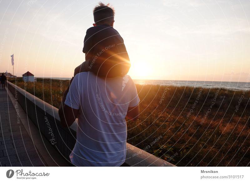 Sommerfeeling Kind Mensch Ferien & Urlaub & Reisen Mann Ferne Strand Erwachsene Leben Liebe Junge Tourismus Freiheit Zusammensein Ausflug Zufriedenheit