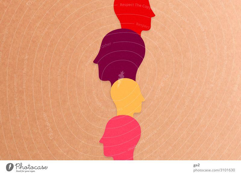 Köpfe Mensch Kopf Zeichen beobachten Blick außergewöhnlich Zusammensein einzigartig Neugier Menschlichkeit Solidarität achtsam Wachsamkeit Toleranz beweglich