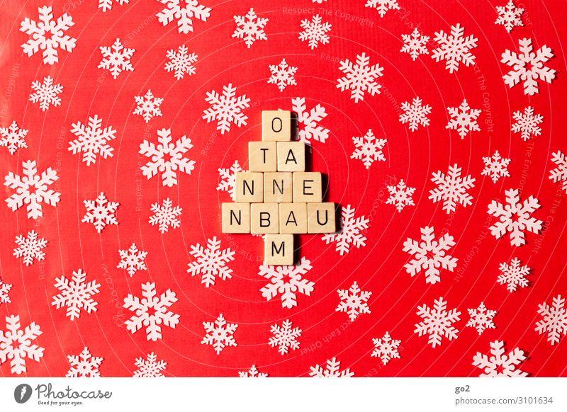 O Tannenbaum Weihnachten & Advent weiß rot Freude Gefühle Spielen Design Freizeit & Hobby Dekoration & Verzierung Schriftzeichen ästhetisch Kreativität Geschenk