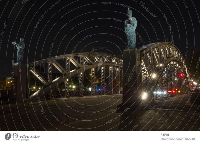 Brooksbrücke in Hamburg bei Nacht. Design Ferien & Urlaub & Reisen Tourismus Sightseeing Städtereise Nachtleben ausgehen Feste & Feiern Wissenschaften