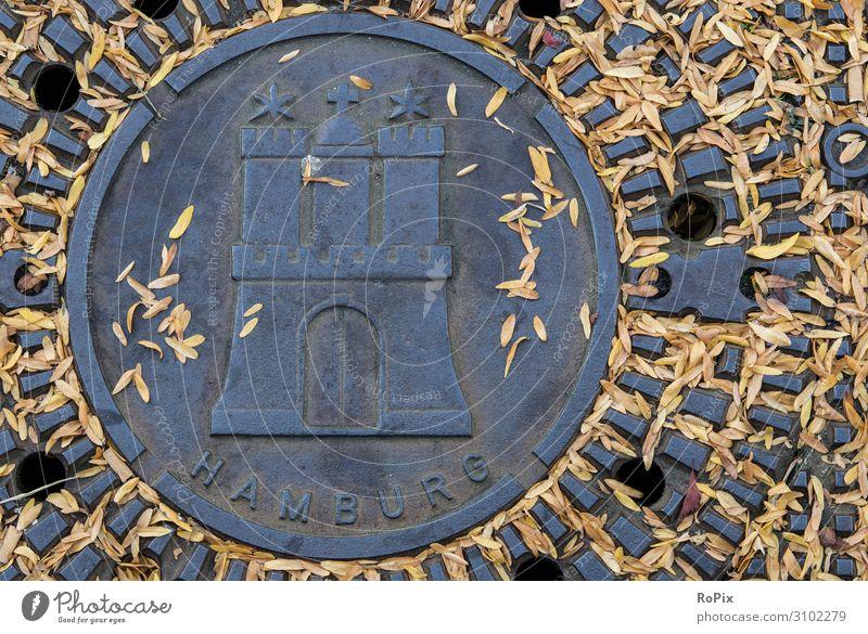 Hansestadt Hamburg. Design Ferien & Urlaub & Reisen Tourismus Ausflug Sightseeing Städtereise Arbeit & Erwerbstätigkeit Beruf Handwerker Arbeitsplatz Wirtschaft