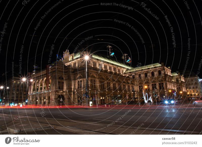 Wiener Staatsoper bei Nacht, Wien/Österreich elegant Feste & Feiern Architektur Konzert Oper Opernhaus Europa Hauptstadt Altstadt Bauwerk Oper Wien