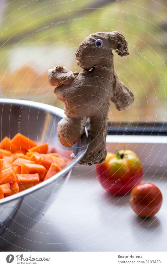 Ingwer belebt Lebensmittel Gemüse Möhre Tomate Ernährung Bioprodukte Vegetarische Ernährung Schalen & Schüsseln Lifestyle Gesunde Ernährung kaufen Essen