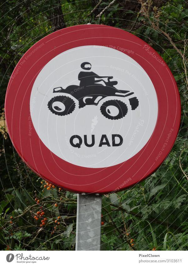 Verbotsschild für Quadfahrzeuge Verkehrszeichen Außenaufnahme Verkehrsschild Straßenverkehr Hinweisschild Schilder & Markierungen