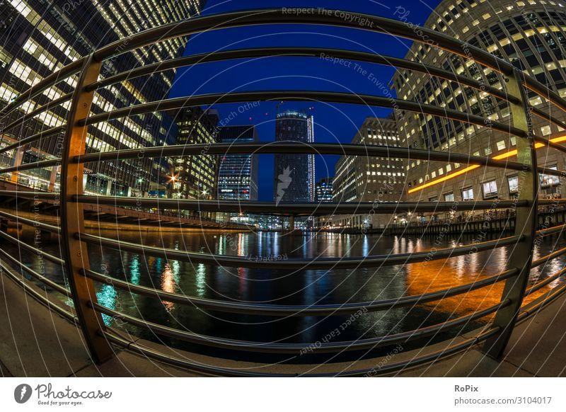 Canary Wharf bei Nacht. Lifestyle kaufen Reichtum Design Ferien & Urlaub & Reisen Tourismus Sightseeing Städtereise Häusliches Leben Arbeit & Erwerbstätigkeit