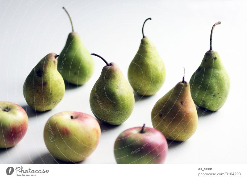 Birnen und Äpfel Lebensmittel Frucht Apfel Dessert Marmelade Ernährung Bioprodukte Vegetarische Ernährung Diät Gesunde Ernährung Wellness harmonisch