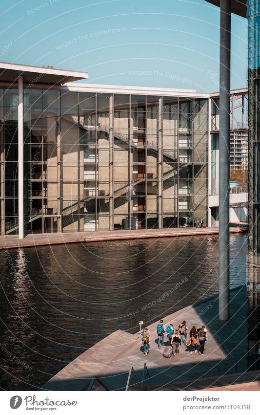 Paul-Löbe-Haus mit Spree Ferien & Urlaub & Reisen Architektur Berlin Gebäude Tourismus Ausflug ästhetisch historisch Sehenswürdigkeit Wahrzeichen Bauwerk