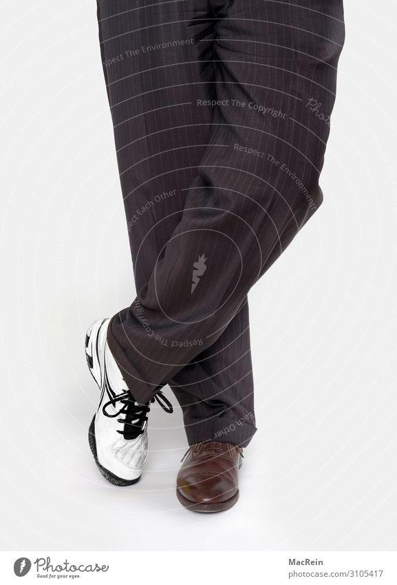Arbeit und Freizeit Mensch Bekleidung Hose Turnschuh Streifen weiß Arbeitskleidung Beine Bein Bekleidung Berufe Berufsbekleidung Be