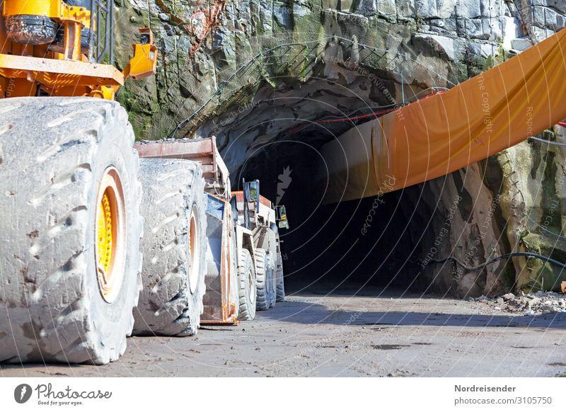 Tunnelbau Arbeit & Erwerbstätigkeit Beruf Arbeitsplatz Baustelle Wirtschaft Industrie Güterverkehr & Logistik Maschine Baumaschine Technik & Technologie