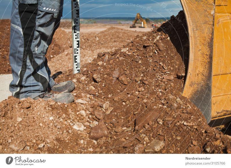 Planieren Arbeit & Erwerbstätigkeit Beruf Handwerker Arbeitsplatz Baustelle Wirtschaft Güterverkehr & Logistik Werkzeug Maschine Baumaschine