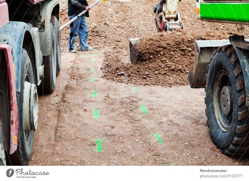 Baustellenverkehr Arbeit & Erwerbstätigkeit Beruf Handwerker Arbeitsplatz Wirtschaft Güterverkehr & Logistik Mittelstand Team Werkzeug Maschine Baumaschine