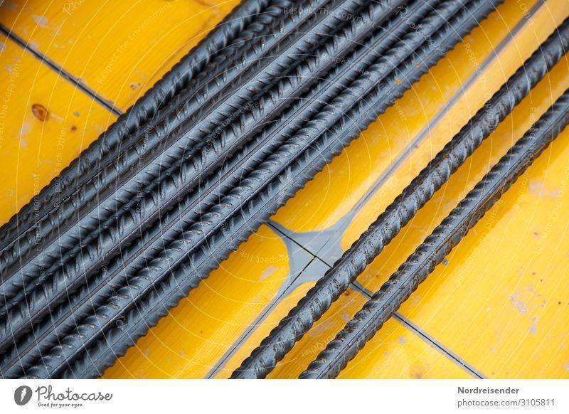 Betonstahl Armierungseisen auf einer Schalungstafel Arbeit & Erwerbstätigkeit Beruf Arbeitsplatz Baustelle Wirtschaft Industrie Güterverkehr & Logistik