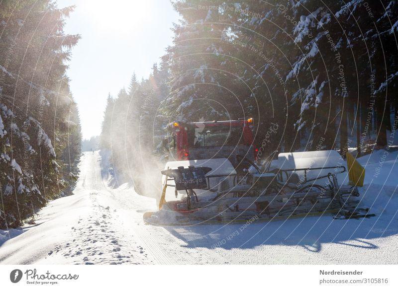 Pistenbulli im Thüringer Wald Ferien & Urlaub & Reisen Tourismus Winter Schnee Winterurlaub Arbeit & Erwerbstätigkeit Arbeitsplatz Dienstleistungsgewerbe