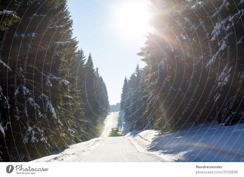 Loipe im Thüringer Winterwald Ferien & Urlaub & Reisen Tourismus Schnee Winterurlaub Wintersport Skipiste Dienstleistungsgewerbe Maschine Natur Landschaft
