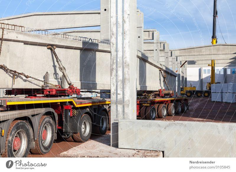 Beton Architektur Gebäude Arbeit & Erwerbstätigkeit modern Industrie Baustelle Güterverkehr & Logistik Bauwerk Beruf Fabrik Dienstleistungsgewerbe Wirtschaft
