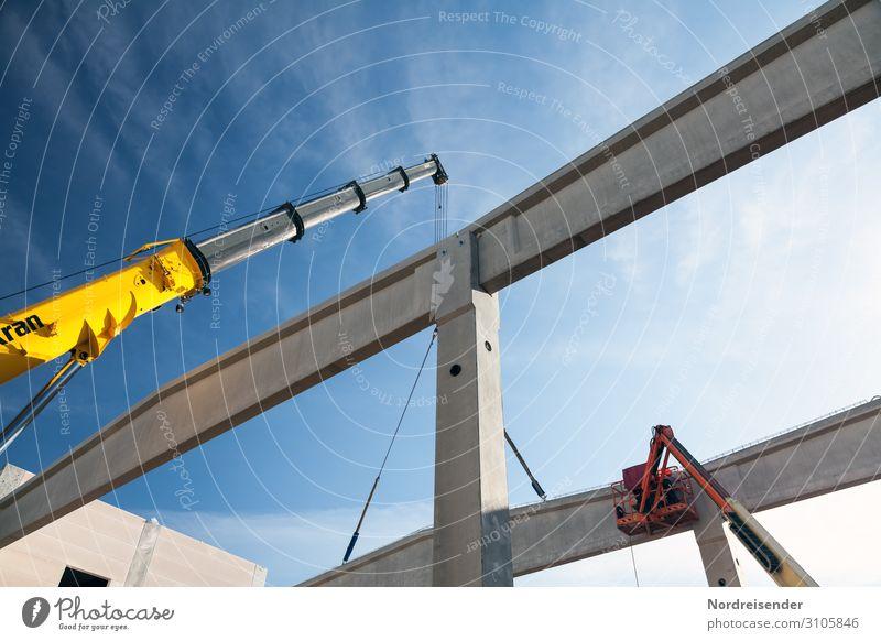 Industrieanlage im Hochbau Himmel Wolken Architektur Gebäude Arbeit & Erwerbstätigkeit Technik & Technologie Schönes Wetter Beton Baustelle
